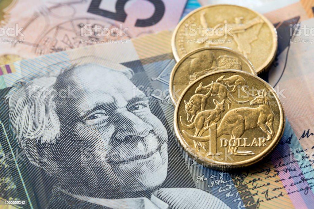 Australian Money Background stock photo