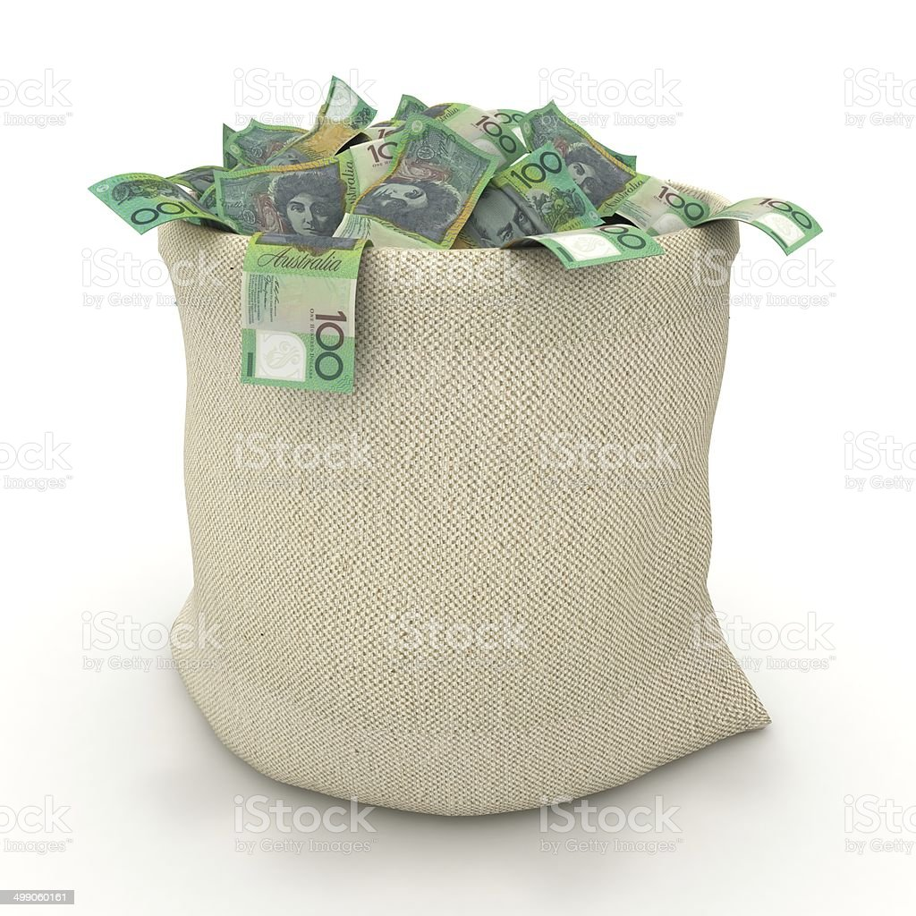Australian Money Bag stock photo