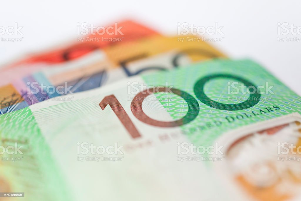 Australian money, currency or cash stock photo