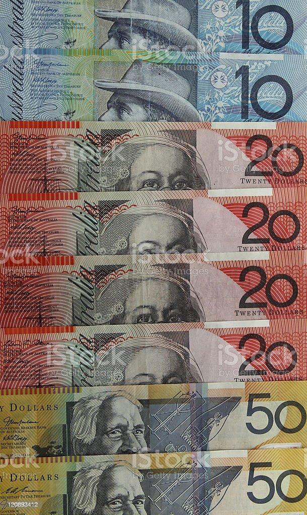 Australian money royalty-free stock photo