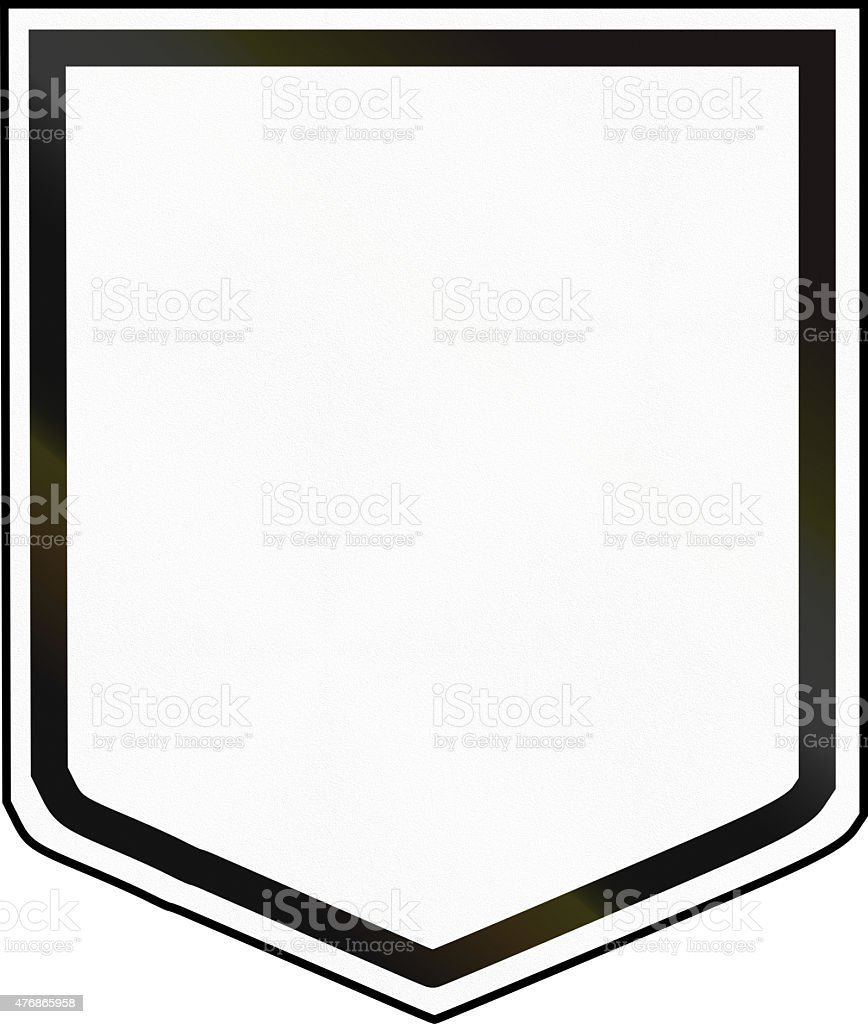 Australian National Route Shield Template Stock Photo & More ...