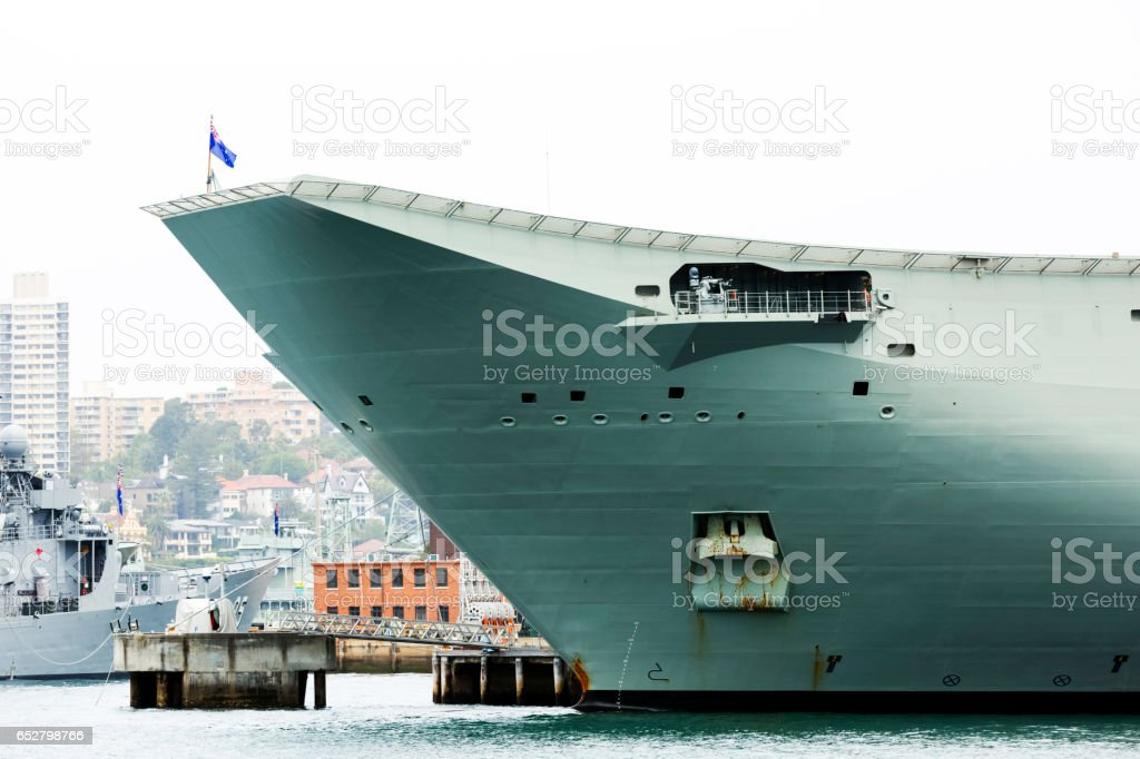 Australian Navy ship docket at Sydney Harbour stock photo