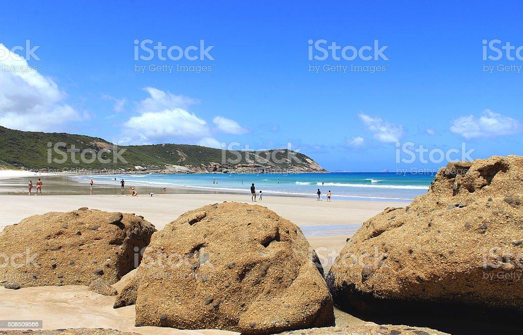 Australian ocean beach stock photo