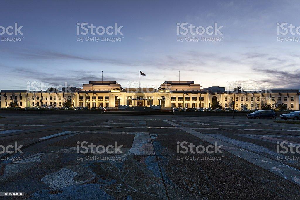Australian old Parliament House stock photo