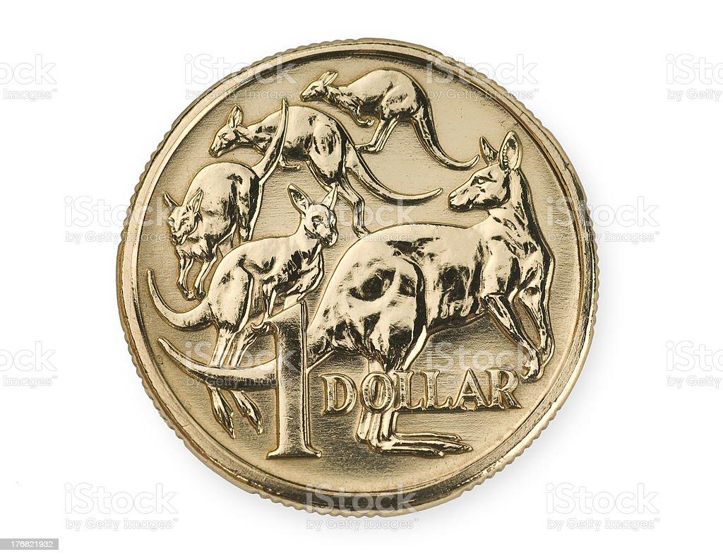 Australian One Dollar Coin stock photo