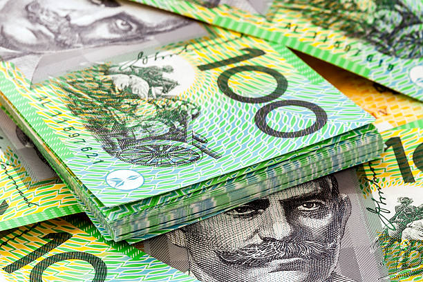 Australian One Hundred Dollar Bills stock photo