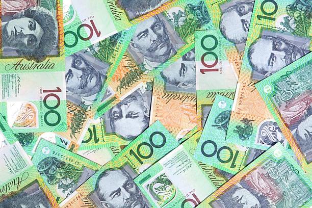Australian One Hundred Dollar Notes stock photo