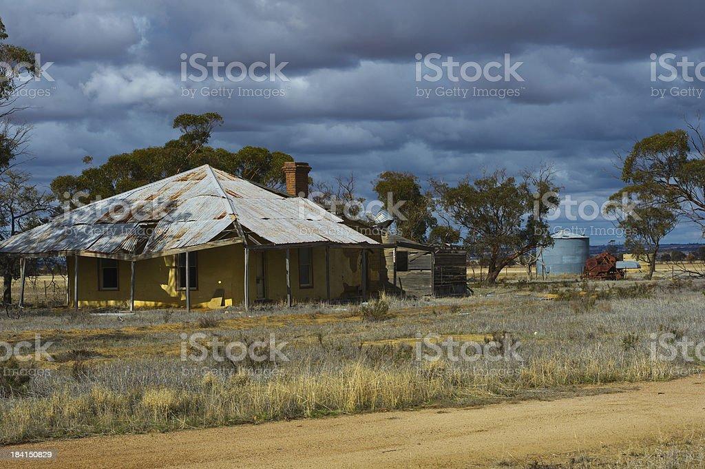 Australian Outback Farm House Royalty Free Stock Photo