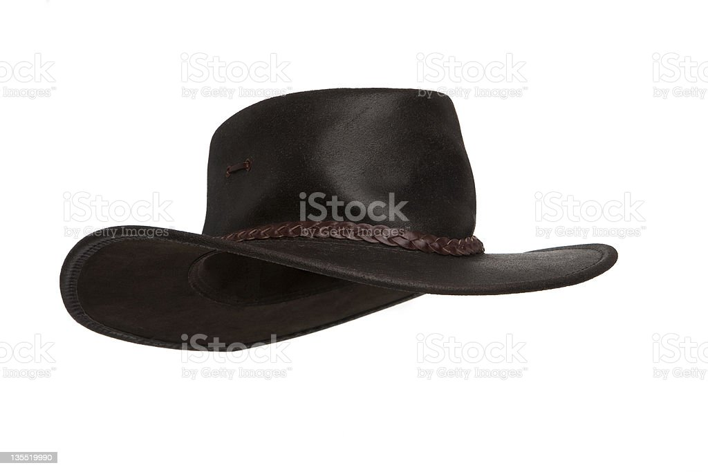 Australian outback hat stock photo