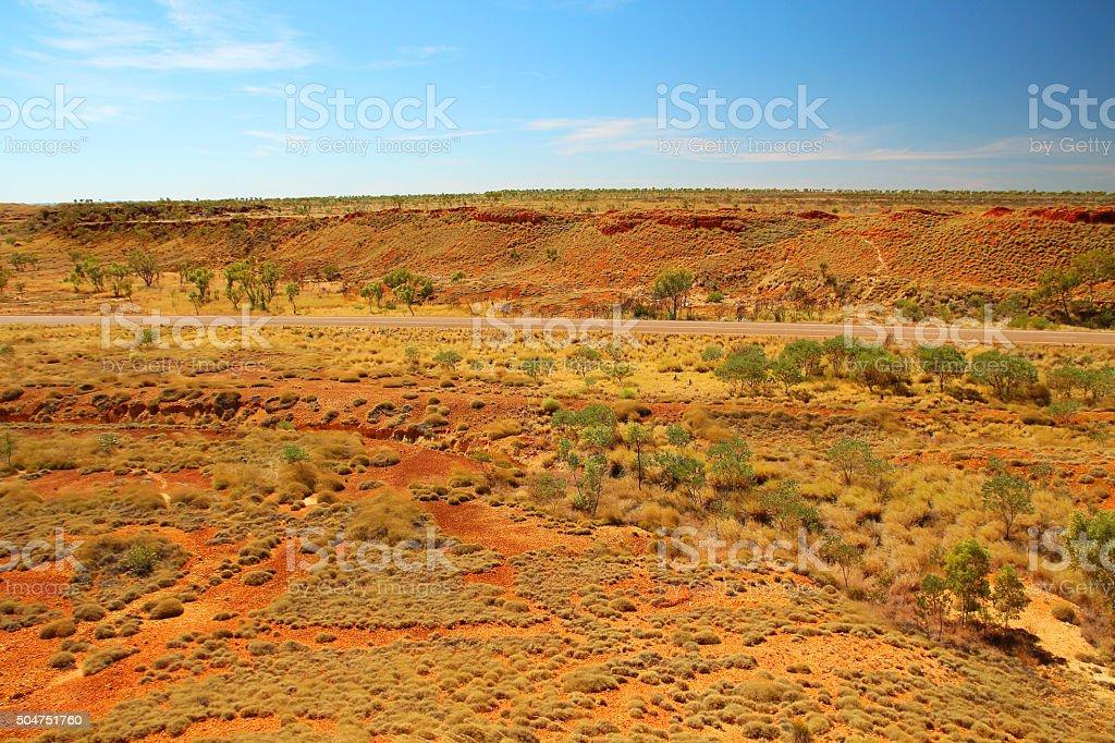 Australian outback stock photo