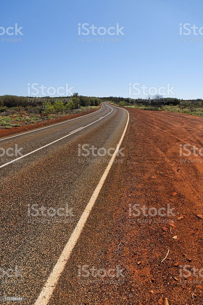 Australian outback road royalty-free stock photo