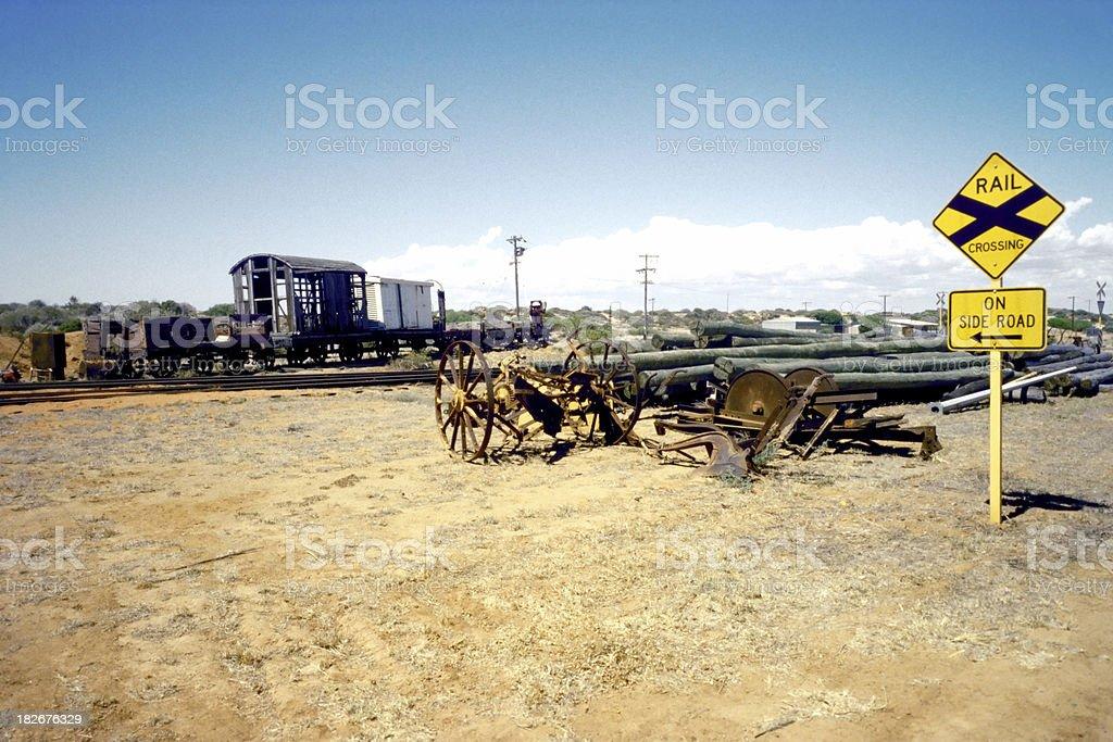 australian outback trainstation royalty-free stock photo