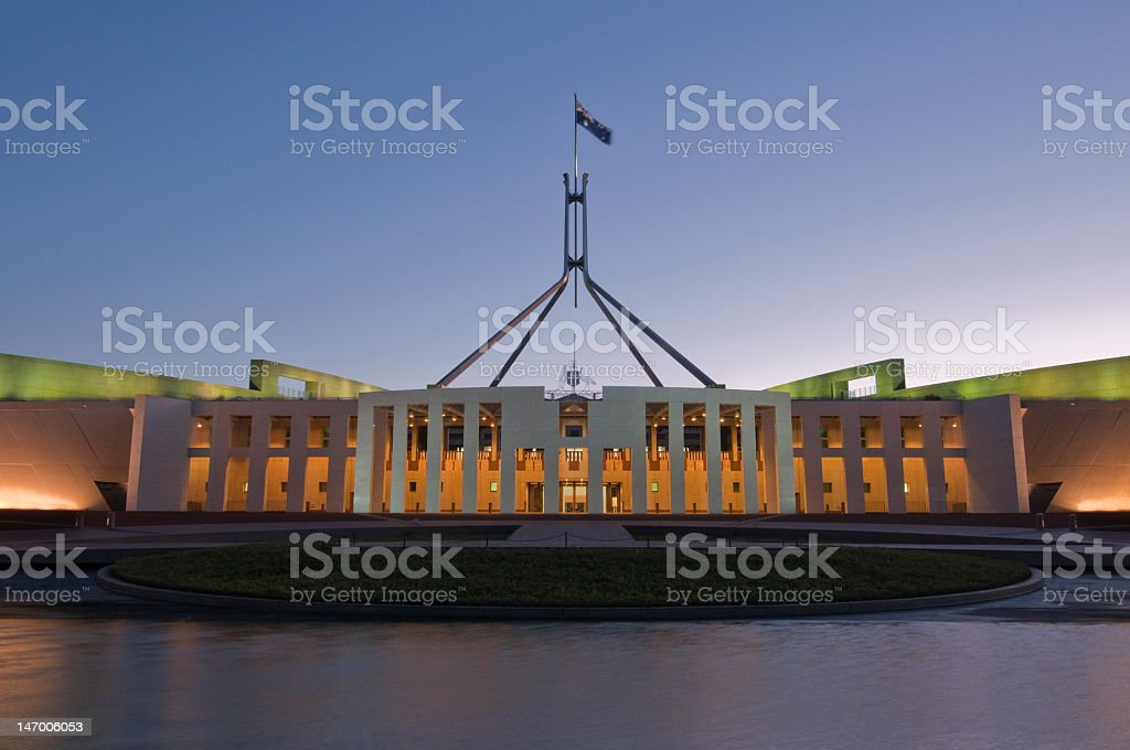 Australian Parliament House Building, Canberra, ACT stock photo