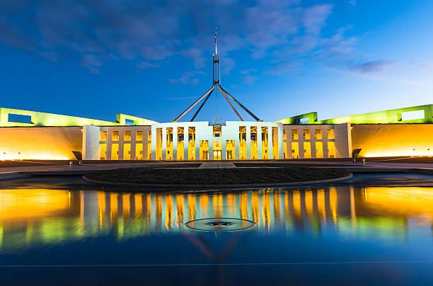 australian parliament house in canberra - canberra skyline bildbanksfoton och bilder
