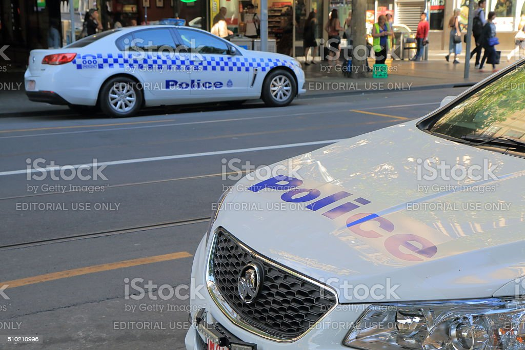 Australian police car stock photo