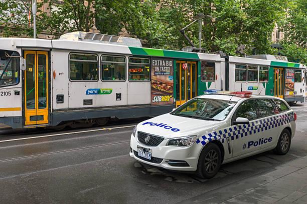 australiano macchina della polizia - victoria australia foto e immagini stock