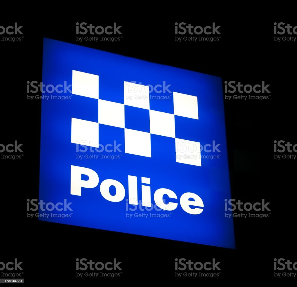 Australian Police Sign stock photo
