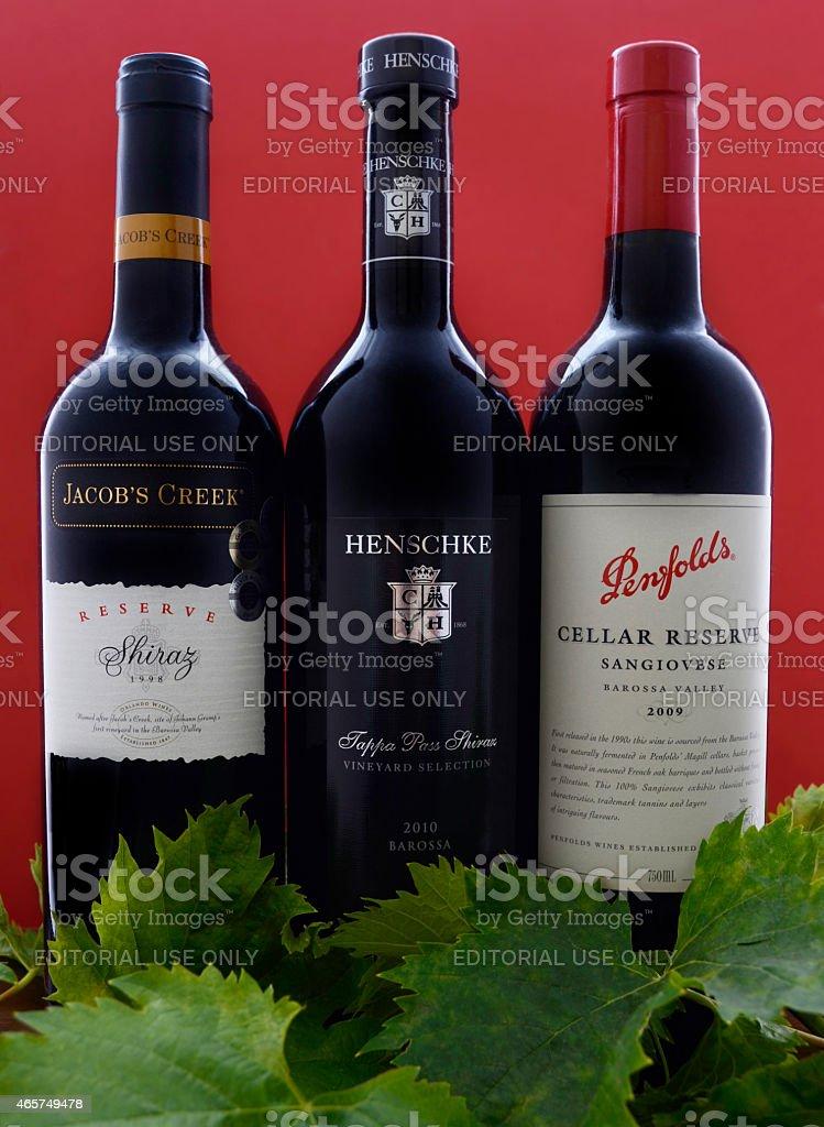 Australian premium wine stock photo