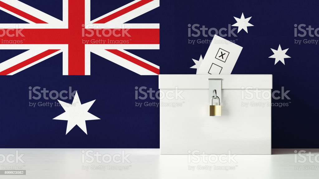 Australian Presidential and Legislative Elections Concept stock photo