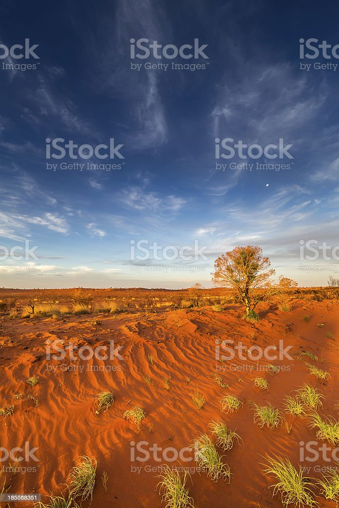 Australian red soil stock photo
