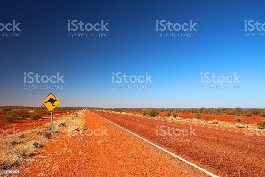 Australian Straßenschild am highway – Foto