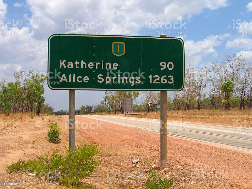 Australian Road Sign stock photo