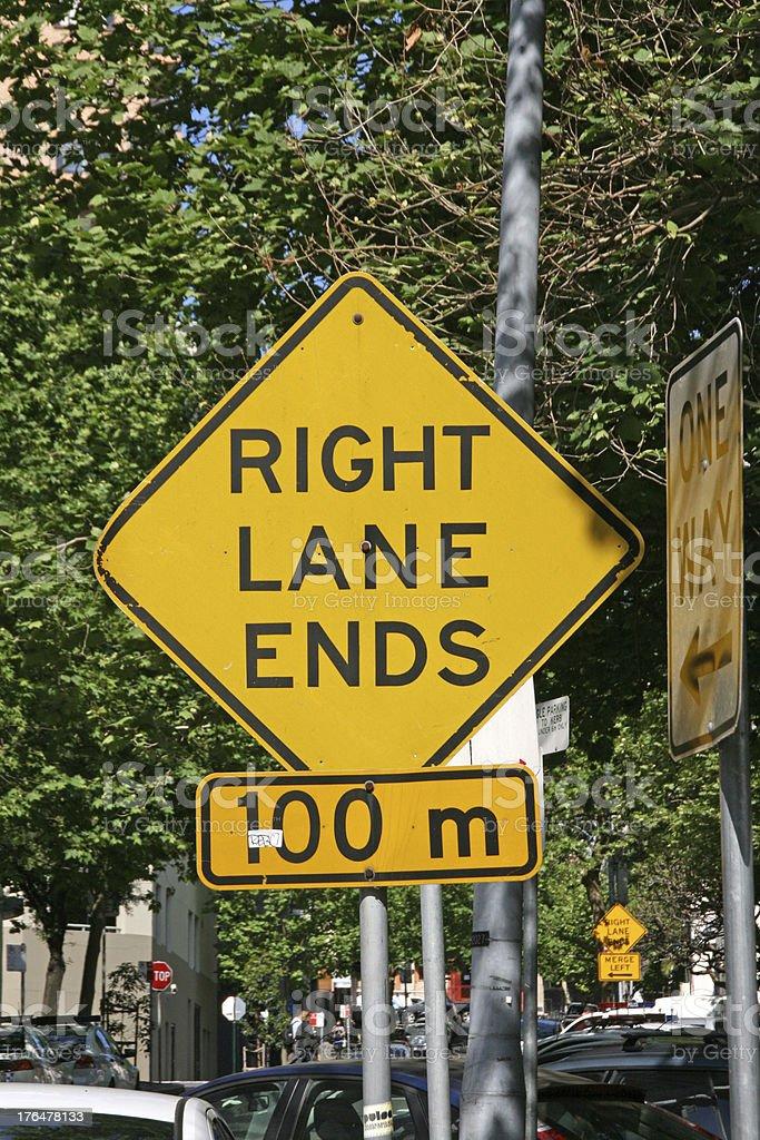 Australian road sign royalty-free stock photo