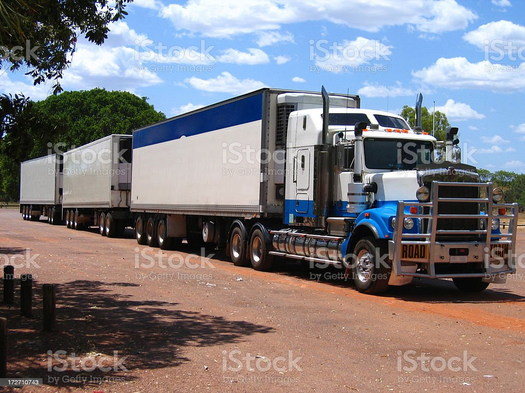 Australian Road Train royalty-free stock photo
