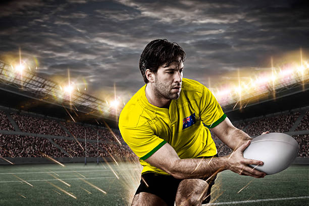 Australian rugby player stock photo