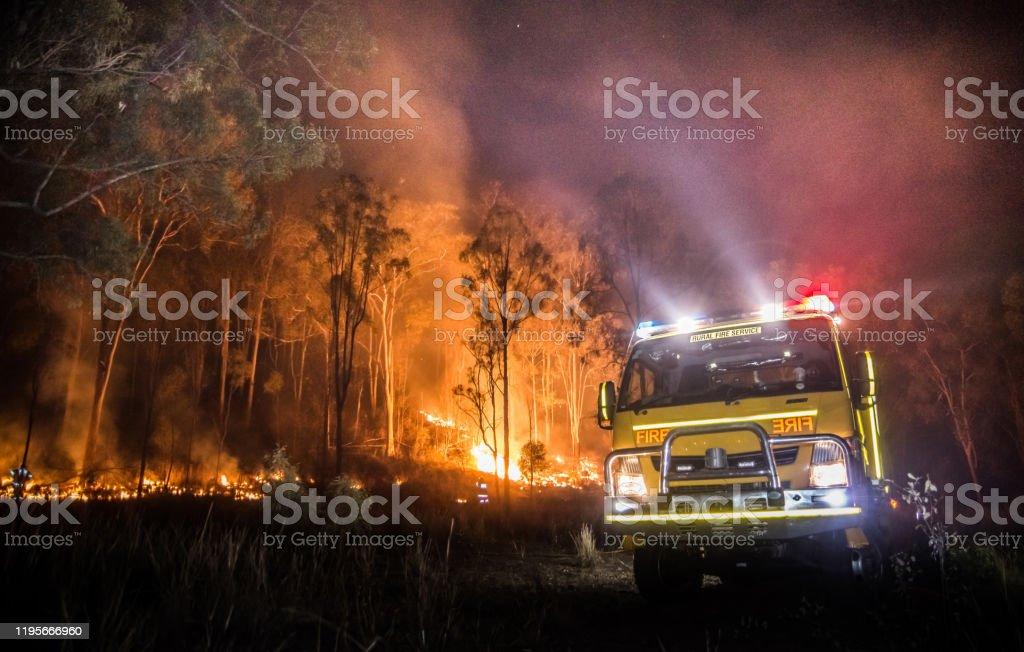 Australische landelijke brandweerwagen - Royalty-free Australië Stockfoto