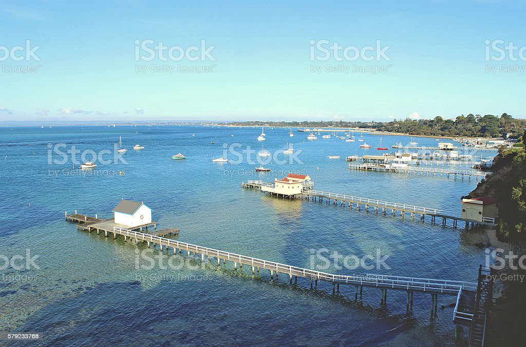 Australian sea landscape stock photo