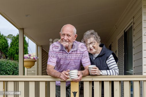 Australian Senior Citizen Couple Enjoying Life and Living Independently At Own Home