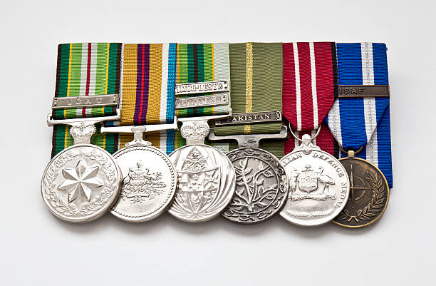 Australian Service Medals - Isolated stock photo
