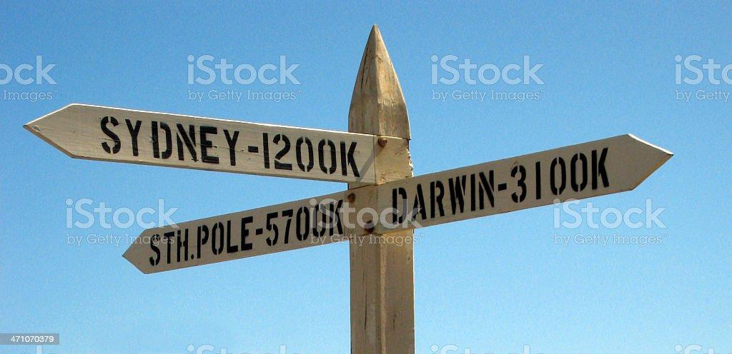 Australian Sign royalty-free stock photo