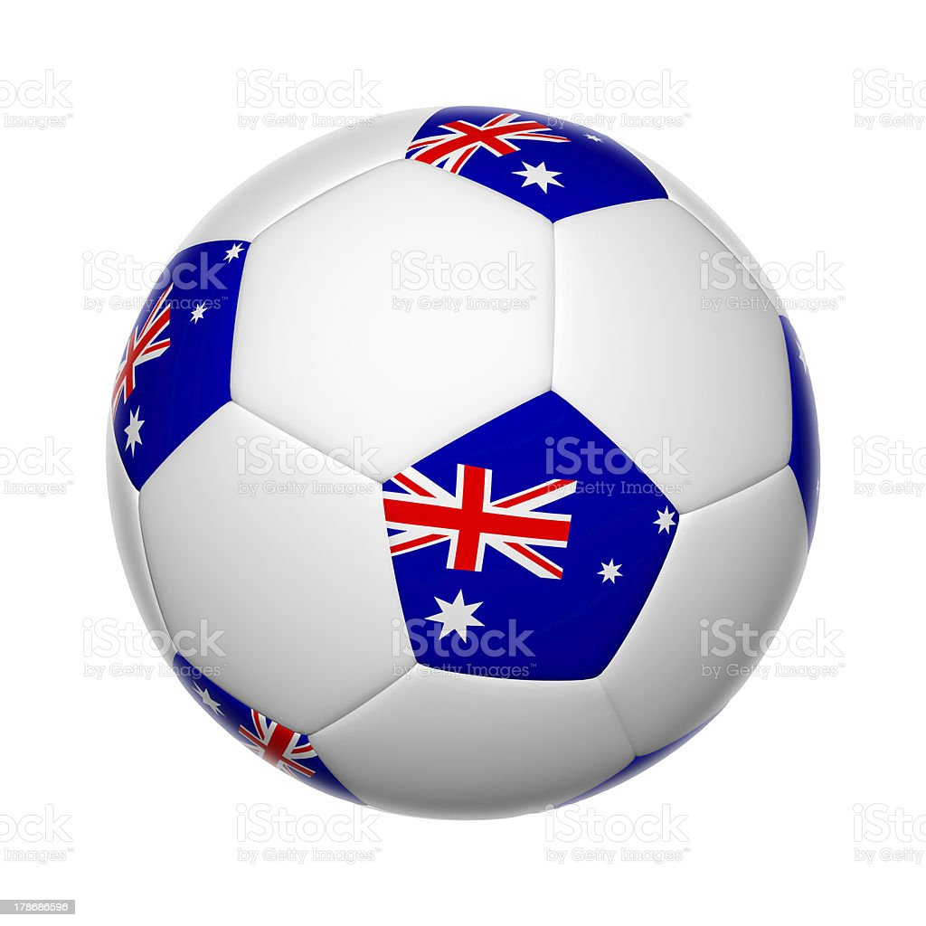 Australian soccer ball stock photo