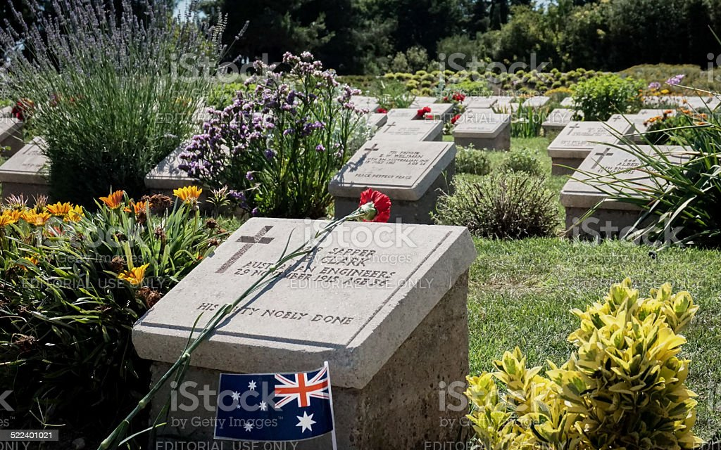 Australian Soldiers Graves stock photo