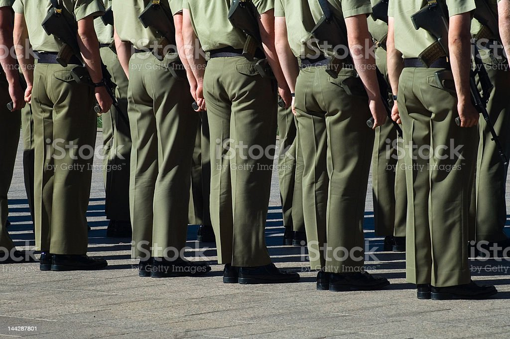 australian soldiers stock photo