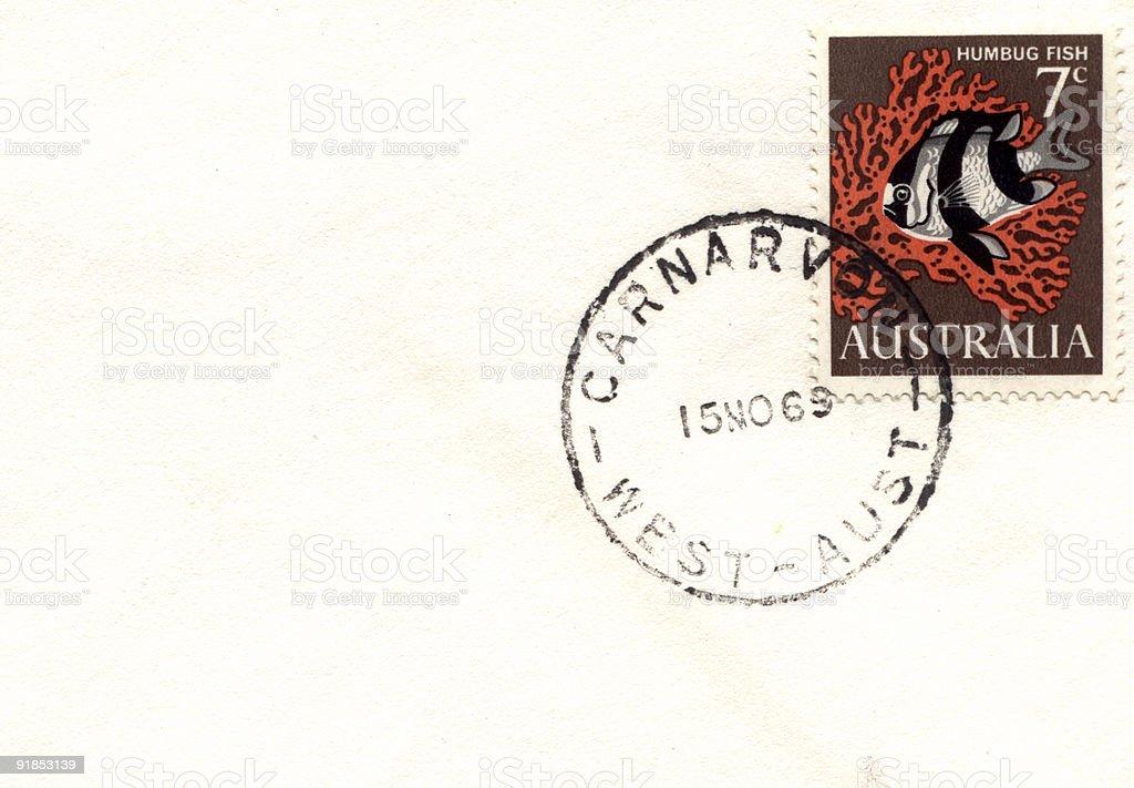 Australian Stamp stock photo