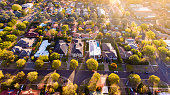 Aerial view of a typical leafy Aussie suburb