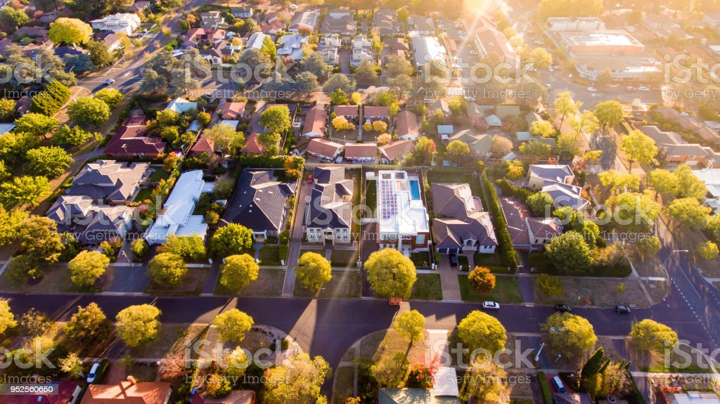 Australian suburb stock photo