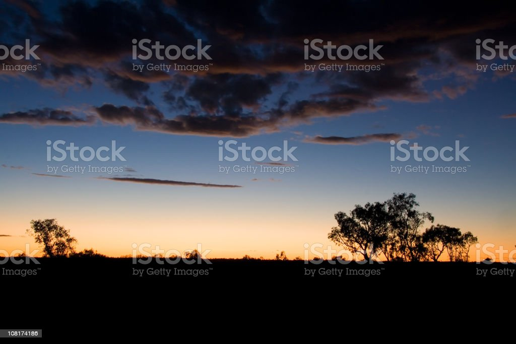 Australian sunset royalty-free stock photo