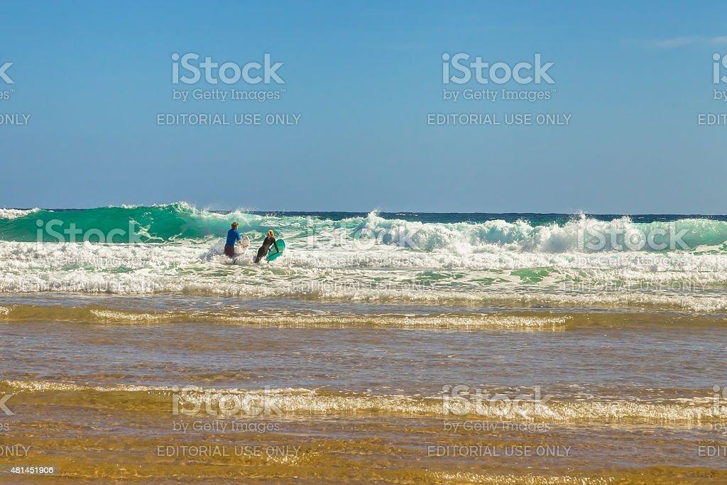 Australian surfers stock photo