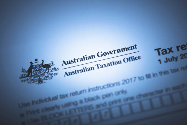 Australian Tax Form stock photo