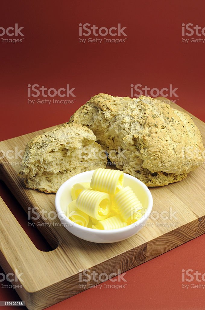 Australian traditional beer batter damper bread royalty-free stock photo