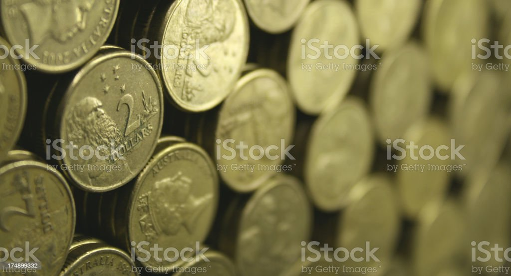 Australian Two Dollar Coins stock photo