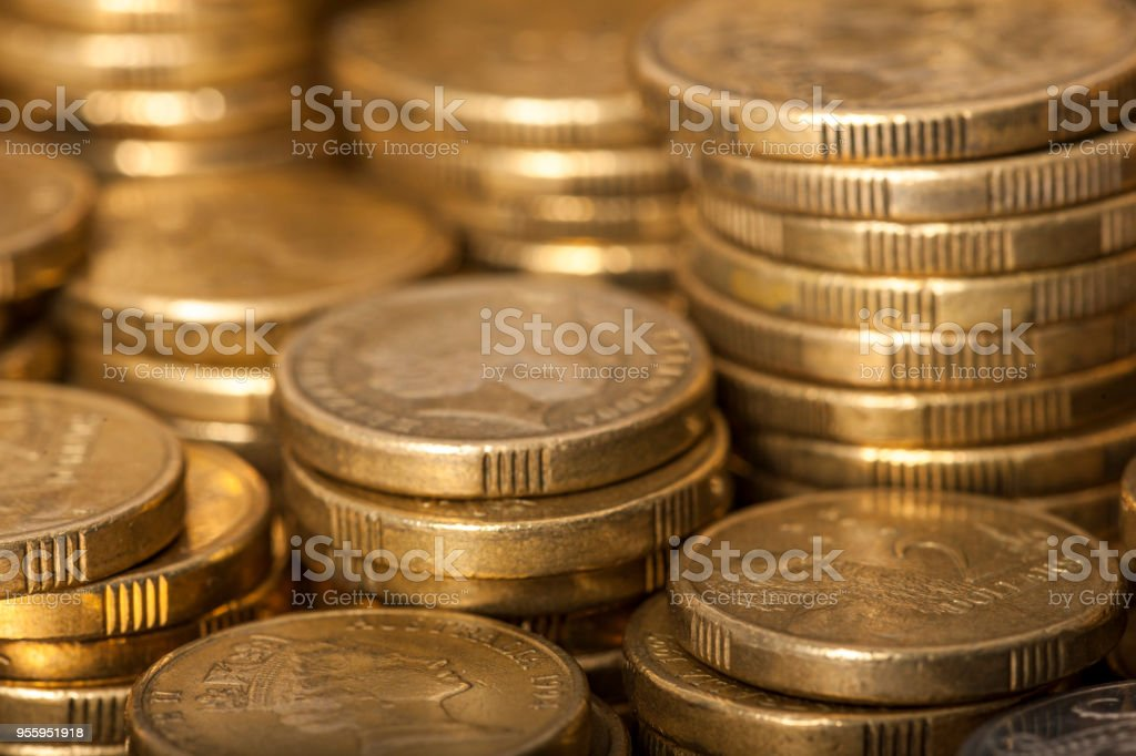 Australian Two Dollar Coins stock photo