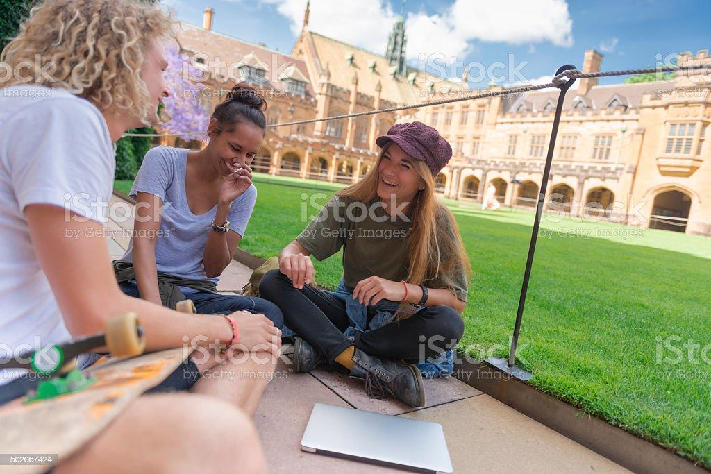 Australian university students stock photo
