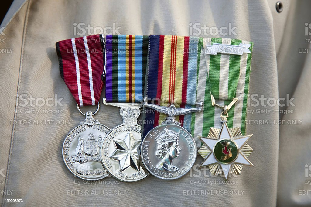 Australian War Medals royalty-free stock photo