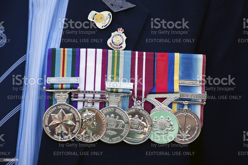 Australian War Medals stock photo