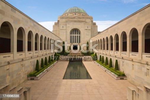 The courtyard of the Australian War Memorial in capital Canberra, Australia.